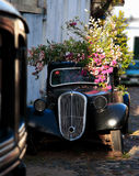 Abandend Car In The Street Of The Historic Quarter Of The City Of Colonia Del Sacramento, Uruguay Royalty Free Stock Photos
