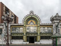 Abando Indalecio Prieto Railway Station i Bilbao, Spanien royaltyfria foton