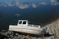 Abandoded wreck. Abandoned wreck on the shores of Lake Royalty Free Stock Image