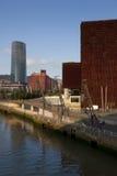 Abandoibarra, Bilbao, Bizkaia, Spanien Lizenzfreie Stockfotos