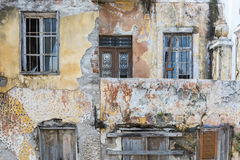 Abandomned housefront Royalty Free Stock Images