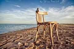 Abandonó una playa egipcia vacía del hotel Imagenes de archivo