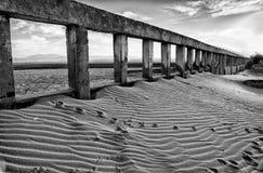 Abandonó una playa egipcia vacía del hotel Foto de archivo