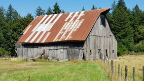 Abandon Barn. In Oregon stock images