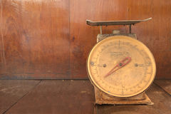 Abandon broken weight scales Stock Photos