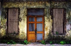 Abandon Building. Abandon front door and windows Stock Images