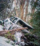 Abandon car in the winter Royalty Free Stock Photography
