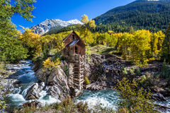 Abandon Crystal Mill in Colorado mountain Stock Images