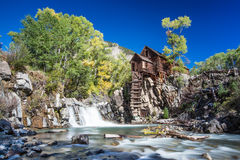 Abandon Crystal Mill in Colorado mountain Stock Photos