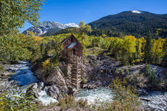 Abandon Crystal Mill en montagne du Colorado Images stock