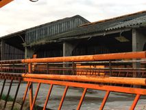 Abandon de hangar de vache Photos stock