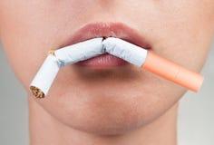 Abandon du tabagisme Images libres de droits