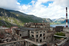 Abandon factory. On the nord of russia, soviet time past royalty free stock photography