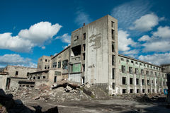 Abandon factory. On the nord of russia, soviet time past Stock Images