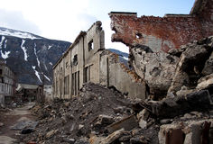 Abandon factory. On the nord of russia, soviet time past royalty free stock photo