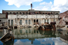 Abandon factory. On the nord of russia, soviet time past royalty free stock photos