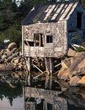 Abandon fishing shack Stock Photo