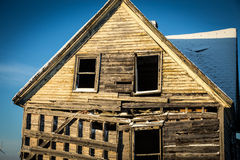 Abandon home in winter Royalty Free Stock Photography