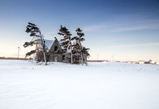 Abandon home in winter Stock Image