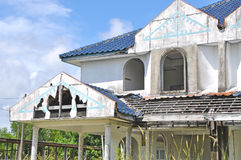 Abandon house waiting to be demolish Royalty Free Stock Photography