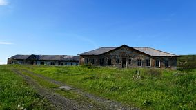 Abandon houses in the north of Russia. stock image