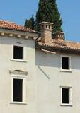 Abandon italian farm house with no windows Stock Photo