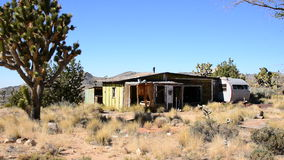 Abandon Mining Camp in the Mojave Desert stock video footage