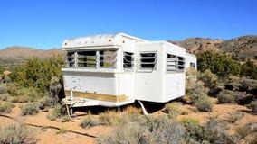 Abandon Motor Home in the Desert stock video