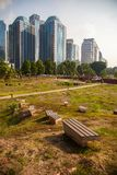 Abandon park site at the city