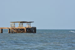 The Abandon Pier Royalty Free Stock Photography