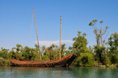 abandon piratkopierar shipen Arkivbild