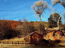 Coconino waterwheel. Abandon remains at Coconino Forrest Stock Images