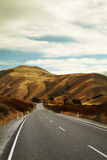 Abandon Road. Road to the mountains shot in New Zealand Stock Photo