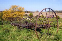 Abandon rustic farm rake Royalty Free Stock Photos