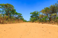Abandon sand road in Africa Stock Photos