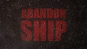 Abandon Ship Signal Alert on an Old Dirty Screen stock footage