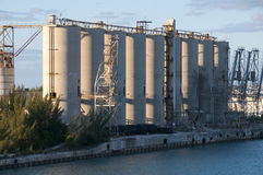 Abandon Silos Stock Photo