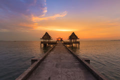 Abandon temple in the ocean Stock Image