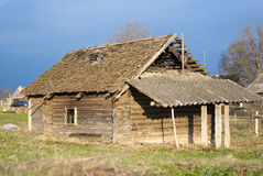 Abandon timbered house Stock Photography