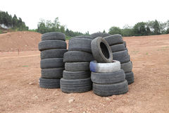 Abandon tire Royalty Free Stock Photography