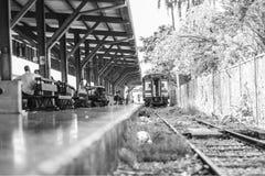 Abandon Train. KTM Train Passenger Black White Monochrome Hatyai Thailand bangkok Abandon Royalty Free Stock Photos