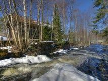 Abandon watermill stock photography