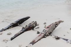 Abandon wood from part of ship Royalty Free Stock Images