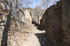 Abandonado aldea-alineado Fotos de archivo