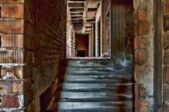 Abandonado bajo construcción en HDR Foto de archivo