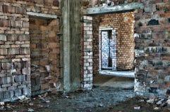Abandonado bajo construcción en HDR Imagenes de archivo