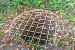 Abandonado bien en el plan Bouchard Memorial Park y Ruines Imagen de archivo