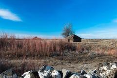 Abandonado a casa en el Praire Fotos de archivo libres de regalías