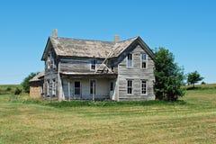 Abandonado a casa en Nebraska Imágenes de archivo libres de regalías