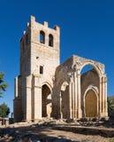 Abandonado de la iglesia de Santa Eulalia en Palenzuela Provin Imagen de archivo